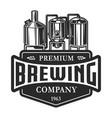 vintage monochrome brewery label vector image vector image