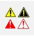 warning signs set vector image vector image
