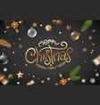 winter holidays greeting card black banner vector image
