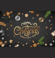winter holidays greeting card black banner with vector image