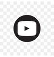 youtube social media icon design template vector image vector image