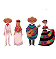 mexican people men and women in traditional vector image
