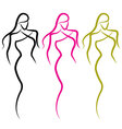 woman outline vector image
