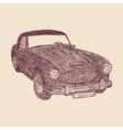 Retro car sketch vector image