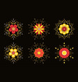 sparkling abstract flowers vector image