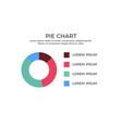 pie chart infographic element vector image