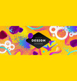 abstract design with multicolored shapes vector image