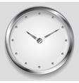 Abstract metallic clock design vector image
