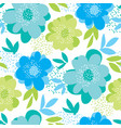 abstract naive summer floral seamless pattern vector image