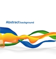 Abstract wave with ribbons vector image vector image