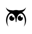 an owl design on white background bird logo vector image