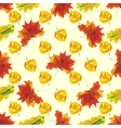 Autumn leaves seamless nature pattern background vector image vector image
