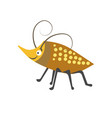 beetle with spots on shell and long curled vector image vector image