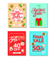 big christmas sale 50 percent off reduction price vector image vector image