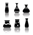 black silhouettes of vases vector image