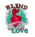 blind love is vector image