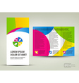 Brochure Design Template circle colorful vector image vector image