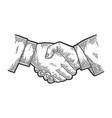 businessman handshake sketch vector image vector image