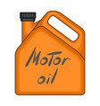 can of engine oilcar single icon in cartoon style vector image