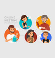 casual online meeting with friends vector image