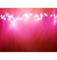 colourful glowing christmas lights and greeting vector image vector image