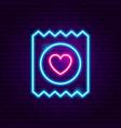 condom neon sign vector image