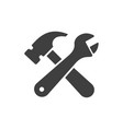 crossed wrench and hammer icon images vector image