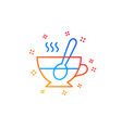 cup with spoon line icon fresh beverage sign vector image vector image