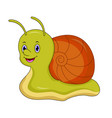 cute cartoon snail isolated on white background vector image