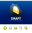 Draft icon in different style vector image vector image