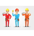 electrician or mechanic in poses vector image