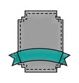 elegant badge seal with ribbon vector image vector image