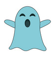 ghost funny cartoon vector image vector image