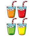 Glasses with juice vector image vector image