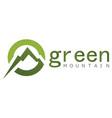 green mountain logo vector image vector image
