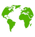 green world map or global cartography vector image vector image