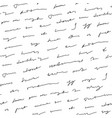 handwriting background seamless pattern grunge vector image vector image