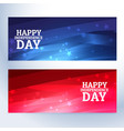 happy independence day banners vector image vector image