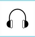 headphones icon music icon music vector image vector image
