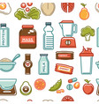 healthy lifestyle and fitness food nutrition and vector image vector image