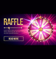 internet raffle roulette fortune banner vector image vector image