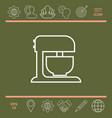 kitchen mixer linear icon vector image vector image