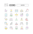 line icons easter vector image