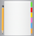 lined paper vector image vector image