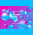 liquid flow fluid colors graphic element vector image vector image
