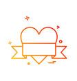 love icon design vector image