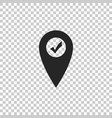 map pointer with check mark marker location sign vector image vector image
