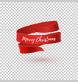 merry christmas red ribbon vector image vector image