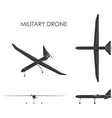 military drone black fill vector image vector image