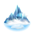 Mountains icon isolated on white vector image